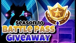 Season X Battle Pass Giveaway At Sub Goal - Fortnite Season X Custom Match Making - Season 10