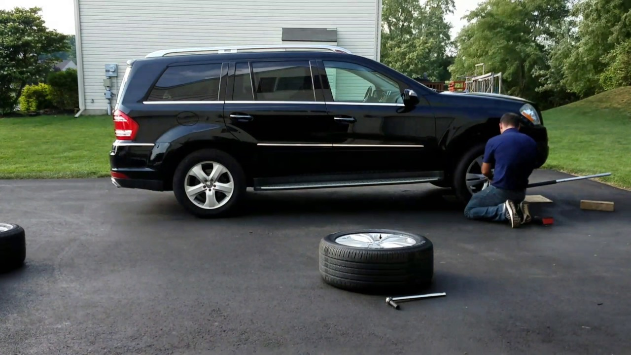 """Mercedes GL450 19"""" to 20"""" conversion using OEM Rims ..."""