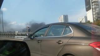 Пожар на левом берегу Москва реки