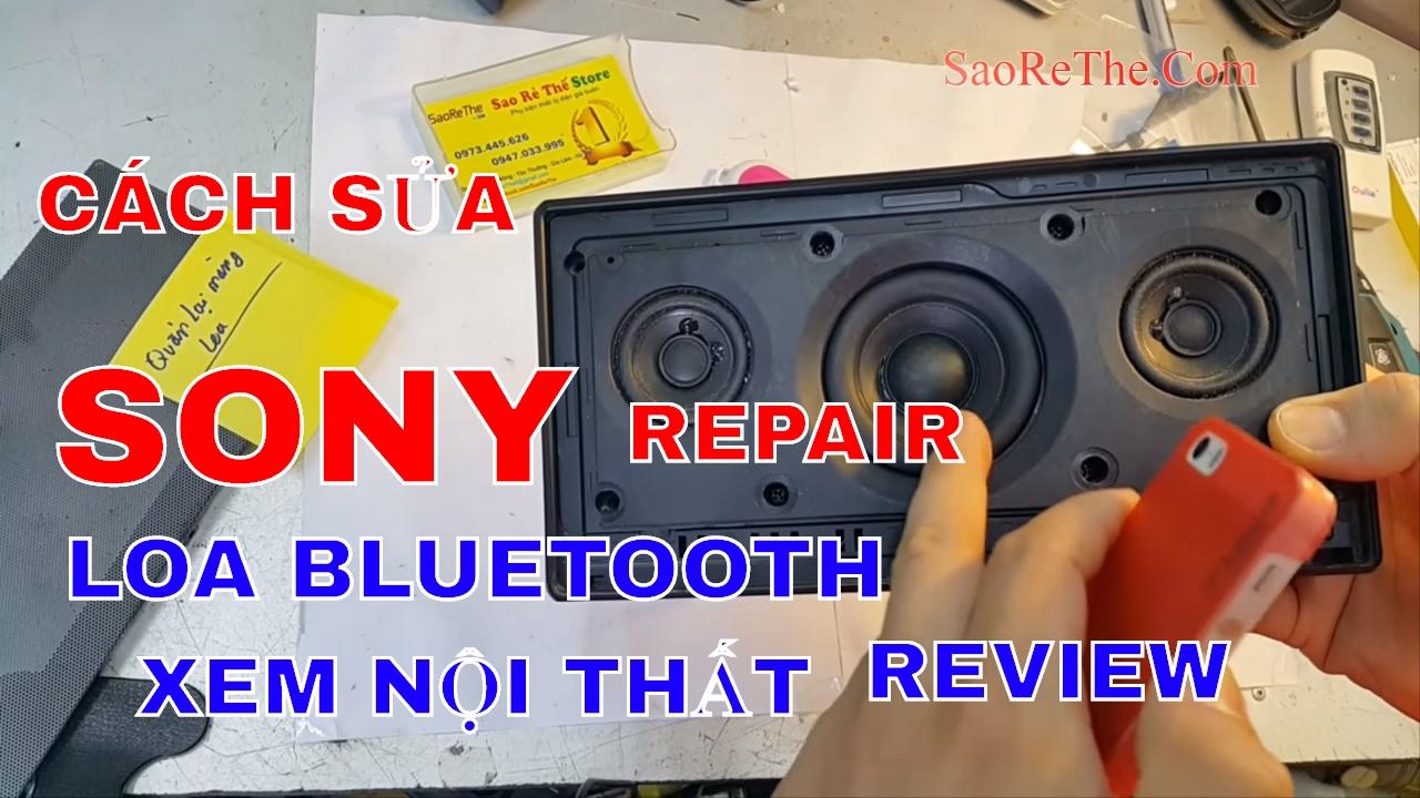 Loa Bluetooth Sony - ÂM THANH CAO CẤP - CÁCH SỬA - NỘI THẤT BÊN TRONG