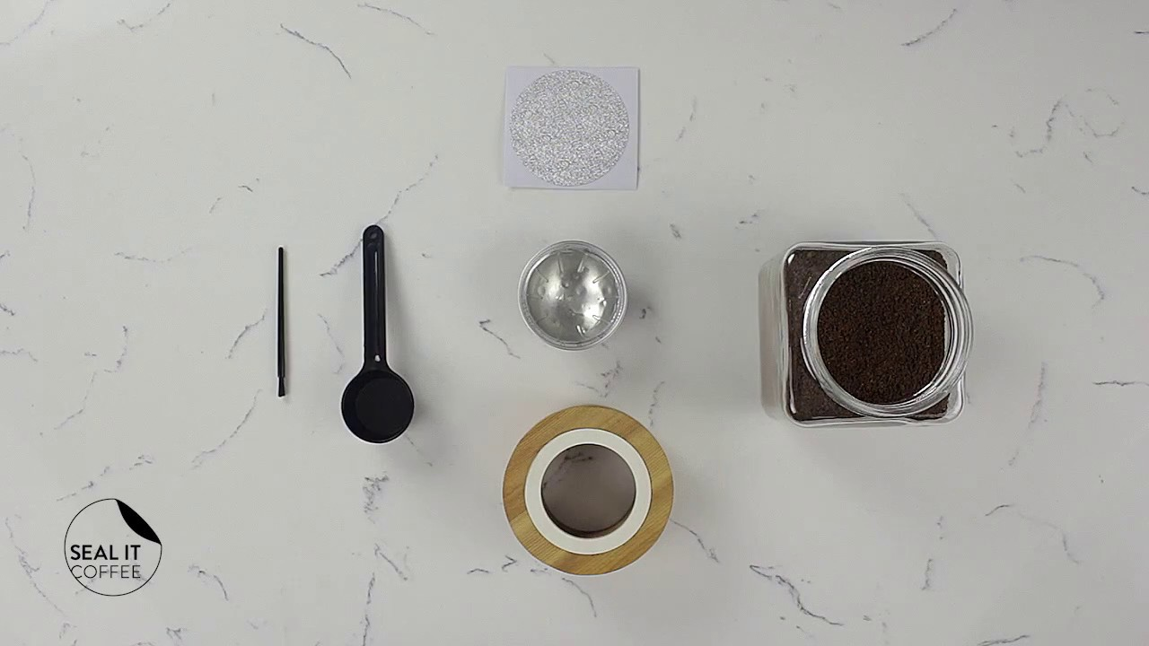 how to use seal it coffee foils for nespresso vertuoline to refill capsules