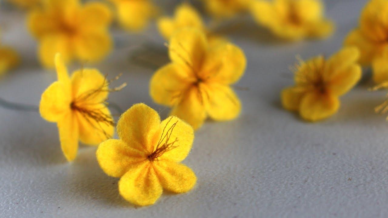 how to make a felt ume blossom flower c225ch l224m hoa mai