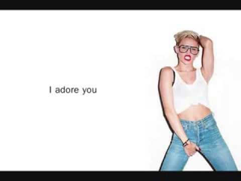 Miley Cyrus - Adore you [Bangerz] (Lyrics on screen) - YouTube
