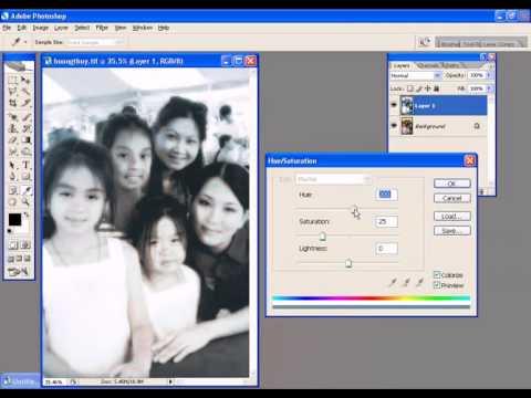 Photoshop CS2 - Phan 22 - Bai 6 - Chuyen doi mau cho anh