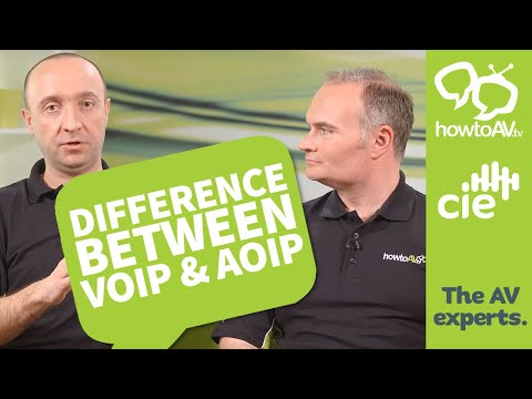 What is the difference between VoIP and AoIP?