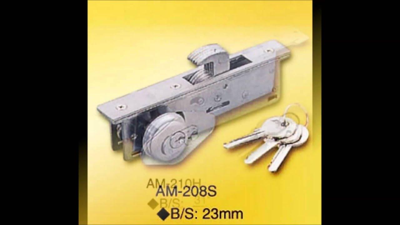 Cerraduras para aluminio cerradura pestillo liso - Cerrojos para puertas de aluminio ...