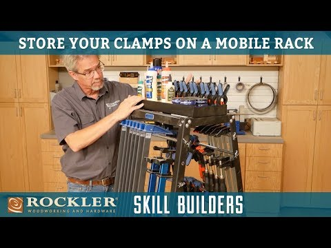 Storing Woodworking Clamps On a Mobile Rack   Rockler Skill Builders