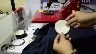 Sublimation Printing Tutorial for Badge and Patch - How to Print Badge and Patch