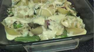 Spinach And Chicken Alfredo Stuffed Shells