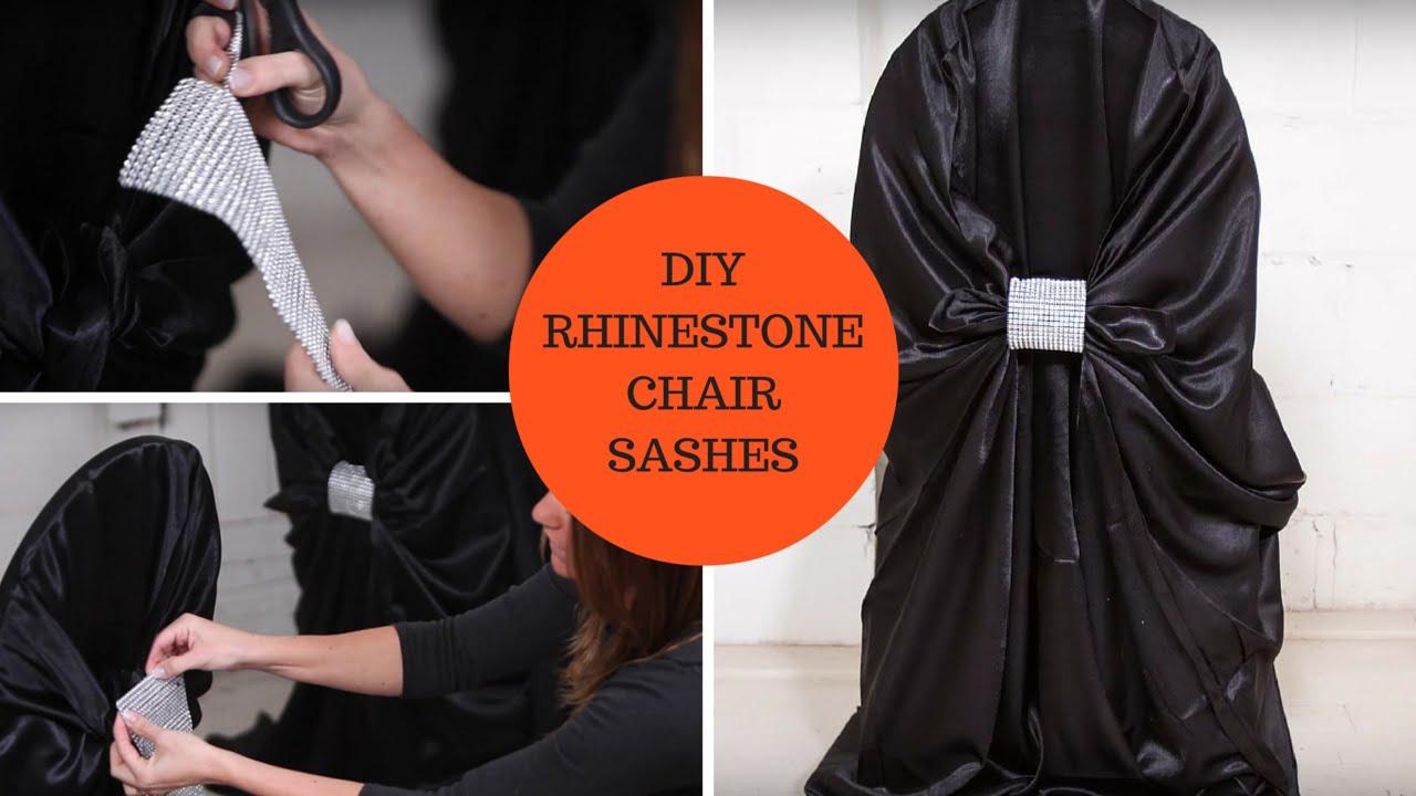 Diy rhinestone chair sashes an affordable diy wedding project diy rhinestone chair sashes an affordable diy wedding project tutorial solutioingenieria Gallery