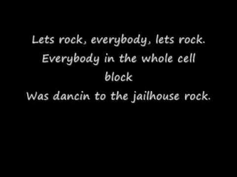 elvis presley lyrics jailhouse rock