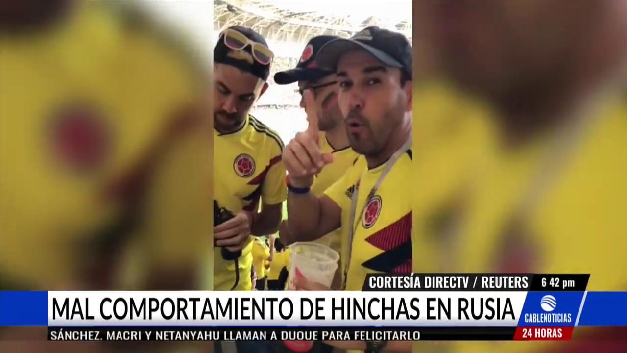 Indignación por vergonzoso comportamiento de hinchas colombianos en Rusia