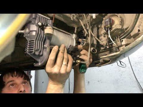Mercedes-Benz W221, замена компрессора и блока клапанов. Приводим пневму в порядок.