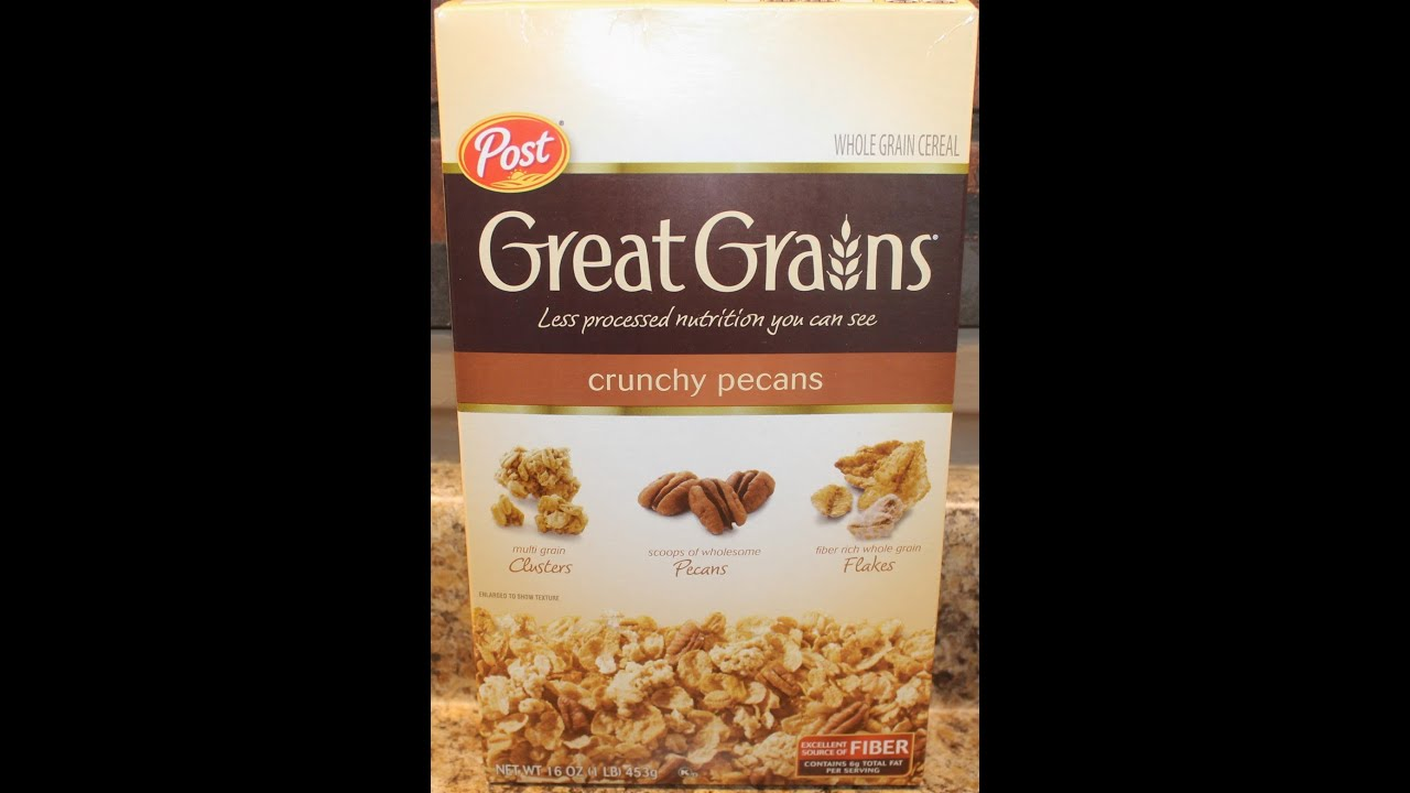 Post great grains crunchy pecans cereal review youtube post great grains crunchy pecans cereal review ccuart Choice Image