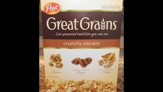 Post Great Grains: Crunchy Pecans Cereal Review