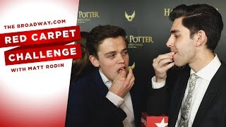RED CARPET CHALLENGE: HARRY POTTER AND THE CURSED CHILD with Sarah Hyland, Ezra Miller and more!