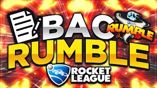 Le BAC de Rocket League (RUMBLE) 🔥