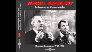 [Michel Bouquet] - Professeur au conservatoire - 01