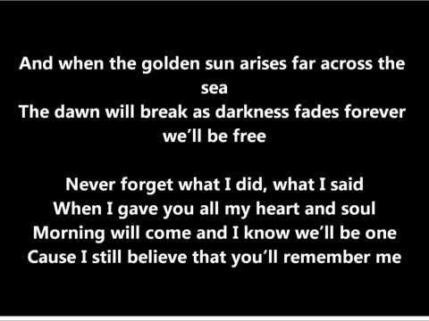 Never Forget- Gréta Salóme and Jónsi. Texti/Lyrics (eurovision 2012, Iceland)