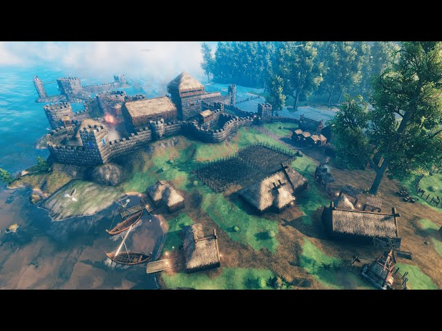 NEW - GREATEST Viking City Building & Fortress Construction   NEW Valheim Hearth & Home UPDATE