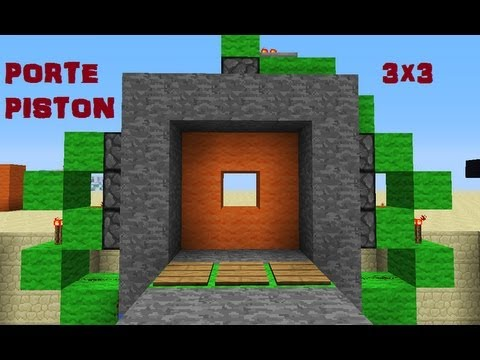 tuto minecraft porte piston 3x3 ultra compacte youtube