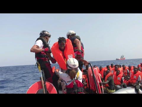 'Ocean Viking' ship rescues 85 migrants in the Mediterranean Sea | AFP