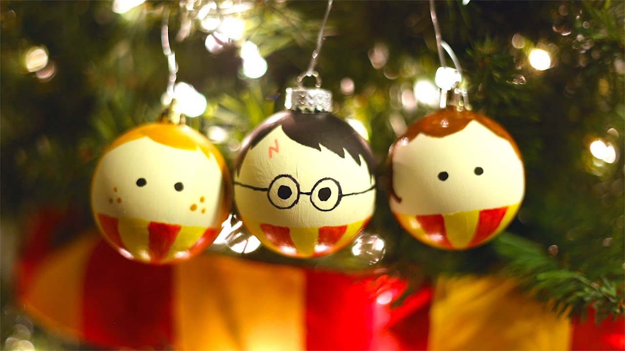how to make harry potter ron and hermione christmas ornaments - Harry Potter Christmas Decorations