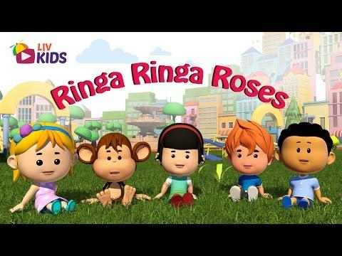 Ringa Ringa Roses with Lyrics | LIV Kids Nursery Rhymes and Songs | HD