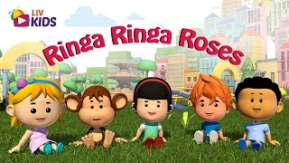 Ringa Ringa Roses with Lyrics | LIV Kids Nursery Rhymes and Songs | HD