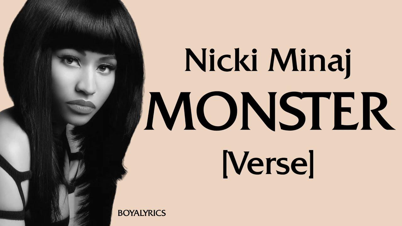 Download Nicki Minaj - MONSTER (Verse - Lyrics) 50k for a verse, pull up in the monster automobile gangsta,