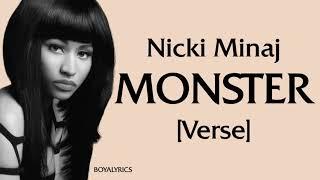 Nicki Minaj - MONSTER (Verse - Lyrics)