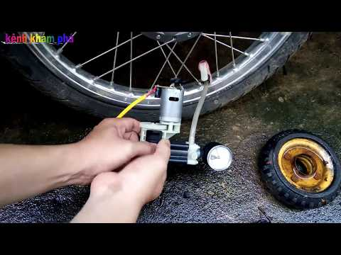 Máy Bơm Xe Máy Mini Tự Chế Và Test Thử Rất Ok