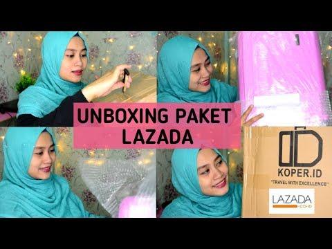 Unboxing Paket Lazada | Koper Polo Murah Cantik | Kartika & Satya