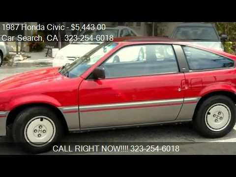 1987 honda civic 1500 crx 2 door hatchback for sale in. Black Bedroom Furniture Sets. Home Design Ideas