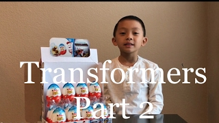 Kinder Joy Surprise Eggs - Transformers Part 2