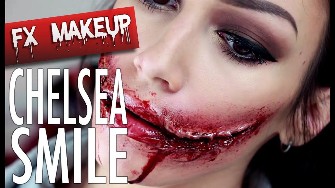 CHELSEA SMILE - SFX Makeup - YouTube