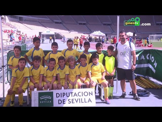 Las Escuelas de Fútbol de Gines participaron en el Trofeo de la Provincia en el Estadio Olímpico