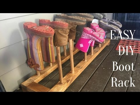 STUPID EASY DIY Boot Shoe Rack | How To Build a Boot or Shoe Drying Rack!!