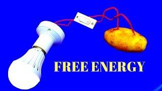 Free Energy Light for Lifetime using potato - 100% Free Energy Light Bulbs 220v Using Potato