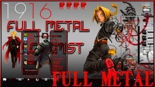 Tema Theme de Full Metal Alchemist Full Glass para Windows 7 2013 2014