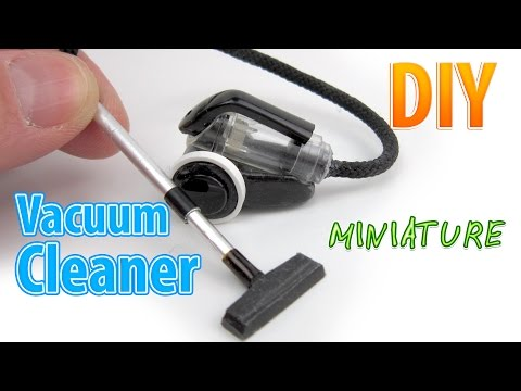 DIY Realistic Miniature Bagless Canister Vacuum Cleaner | DollHouse | No Polymer Clay!