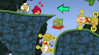 Bad Piggies - ANGRY BIRDS STILL SLEEP WHILE PIG TAKING CRATE!