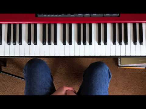 Playing blues piano in E, A and D