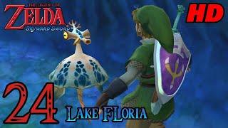 Zelda Skyward Sword HD 60FPS 100% Walkthrough - Part 24 - Lake Floria | Water Dragon