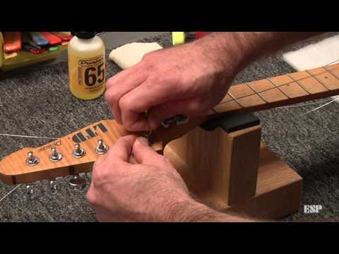ESP Guitars: Restringing a guitar with a Floyd Rose