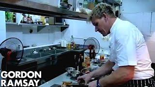 Chef Struggles to Prepare Dinner for Mr. Rice - Gordon Ramsay