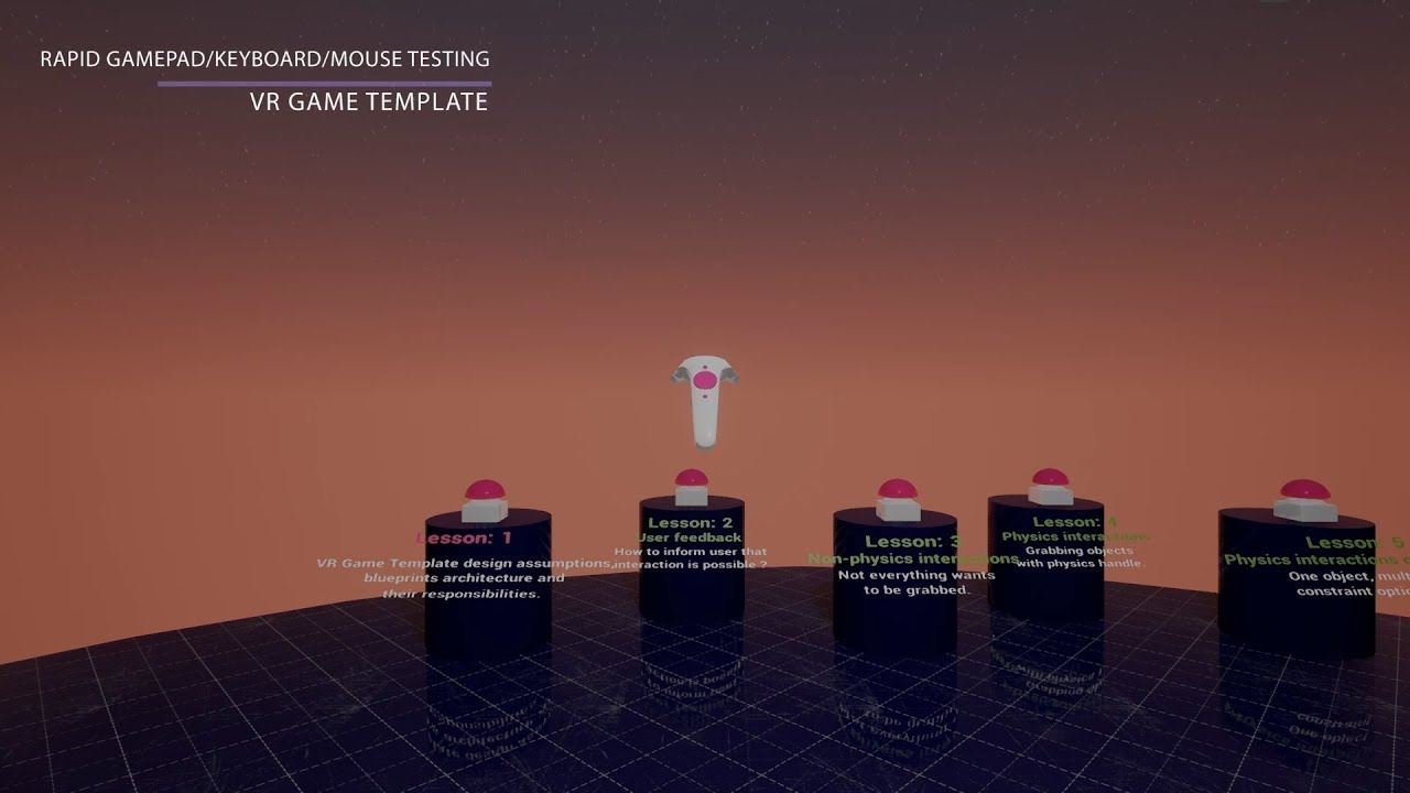 VR Game Template - Rapid Testing [Unreal Engine]