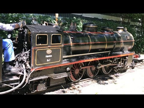 Train Ride on Liliputbahn Prater Park Vienna Austria - Real Steamies and Diesels