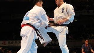森健太vs島本一二三 The 42th All Japan Open Karate Tournament Quarte...