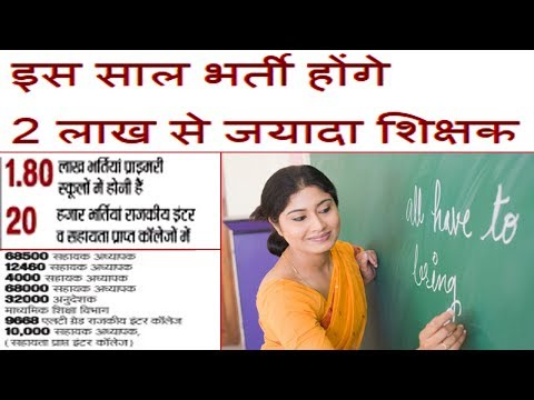 Teaching Jobs 2018 Government Teacher Vacancy In UP Latest Hindi News